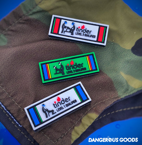 Dangerous Goods™️ Coronavirus Tinder Qualified PVC Military Ribbon Morale Patch - 3 Options