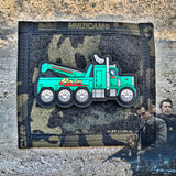 Dangerous Goods X Leen Customs HEAT Peterbilt 359 'Raja' Tow Truck 3D PVC Patch