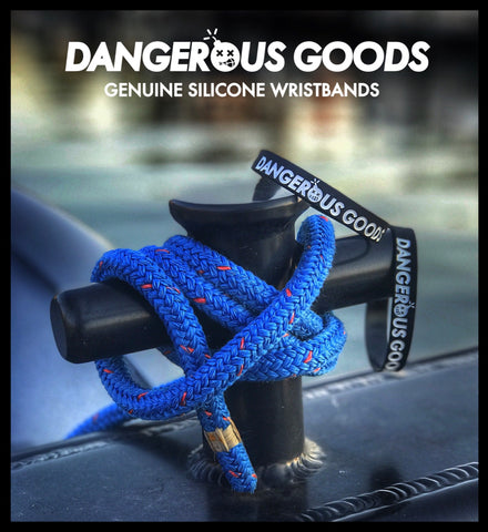 DANGEROUS GOODS™ RECON BLACK SILICONE WRISTBAND