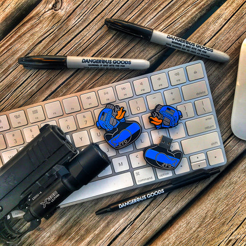 Zero Fucks Duck PVC Thin Blue Line USB 3.0 32GB Flash Drive