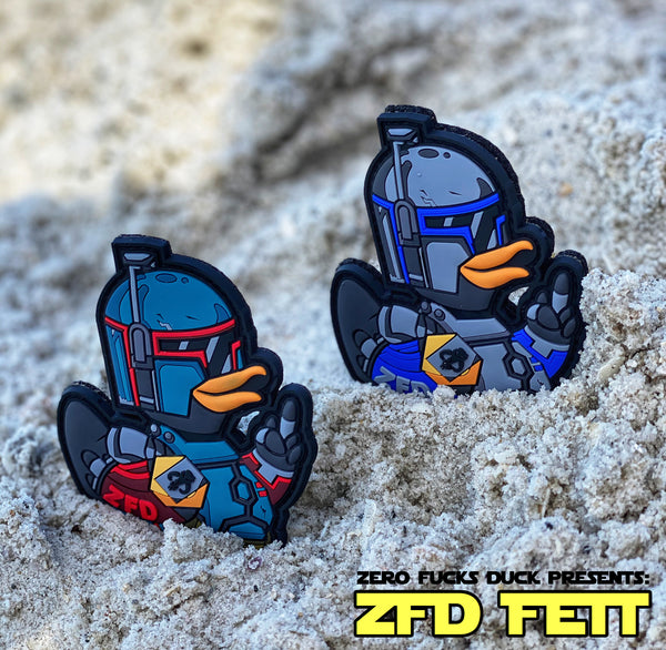 Zero Fucks Duck™️ ZFD Fett PVC Morale Patch Series
