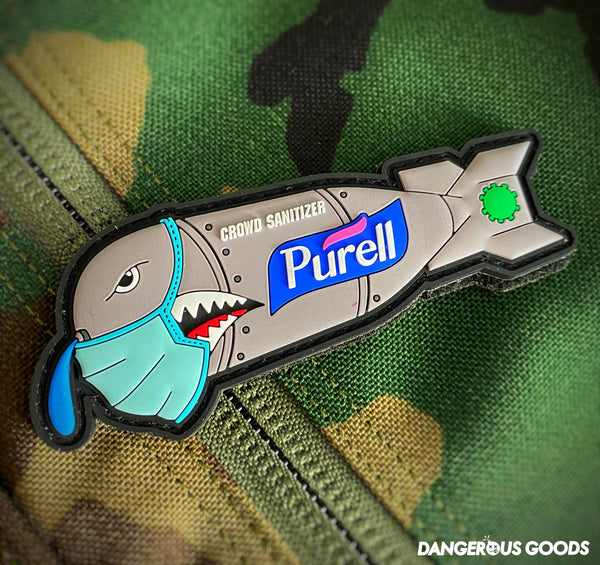 🦠NEW🦠 Dangerous Goods Purell Flying Tigers Crowd Sanitizer PVC Morale Patch