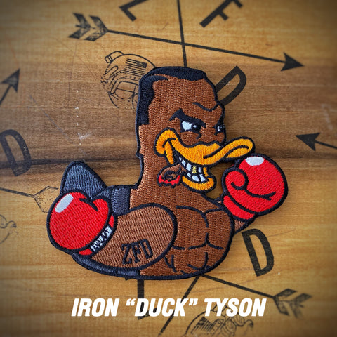 "Zero Fucks Duck™️ Iron ""Duck"" Tyson ZFD Morale Patch"