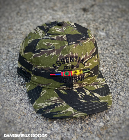 Dangerous Goods™️ Essential Veteran Low Profile Hat - Tiger Stripe Camo