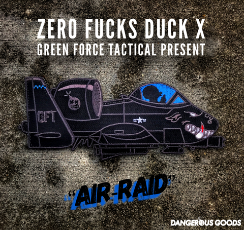 "ZERO FUCKS DUCK ""ZFD"" x GFT 7"" A10 WARTHOG MORALE PATCH"