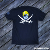 Calico Trump Black Flag Pirate T-Shirt