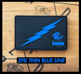 ZERO FUCKS DUCK PVC THIN BLUE LINE & THIN RED LINE MORALE PATCH