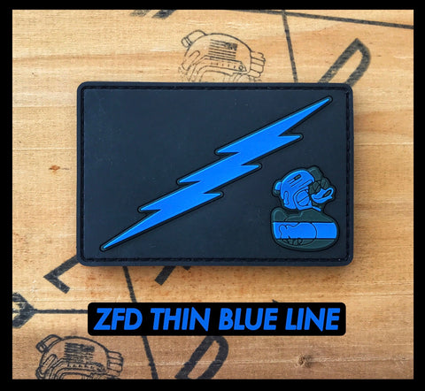 ZFD Thin Blue Line PVC Police Morale Patch