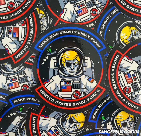 DONALD TRUMP SPACE FORCE USSF MORALE STICKER