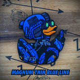 Zero Fucks Duck Magnum Thin Blue Aline Hawaiian Duck Patch