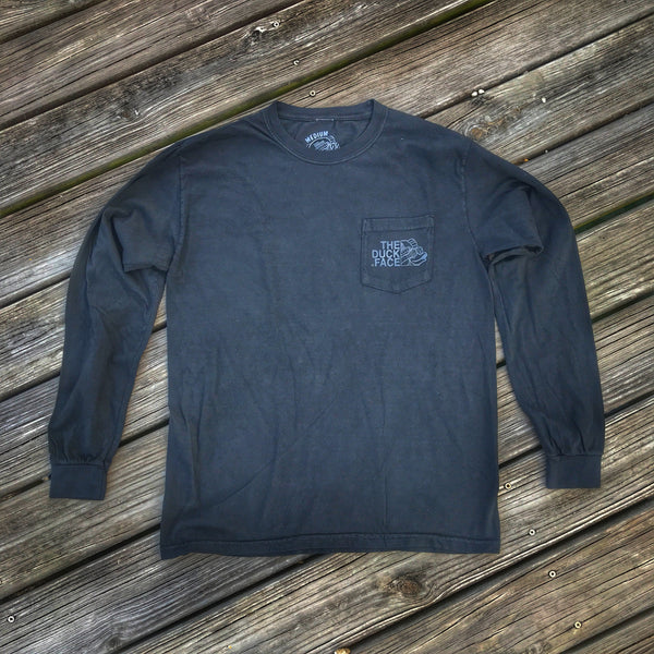 Zero Fucks Duck 'The Duck Face' Operator Long Sleeve T-Shirt - Black Ops