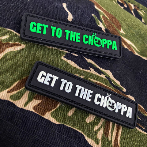 "Dangerous Goods™ ""Get To The Choppa"" PVC Morale Patch - 2 Color Options"