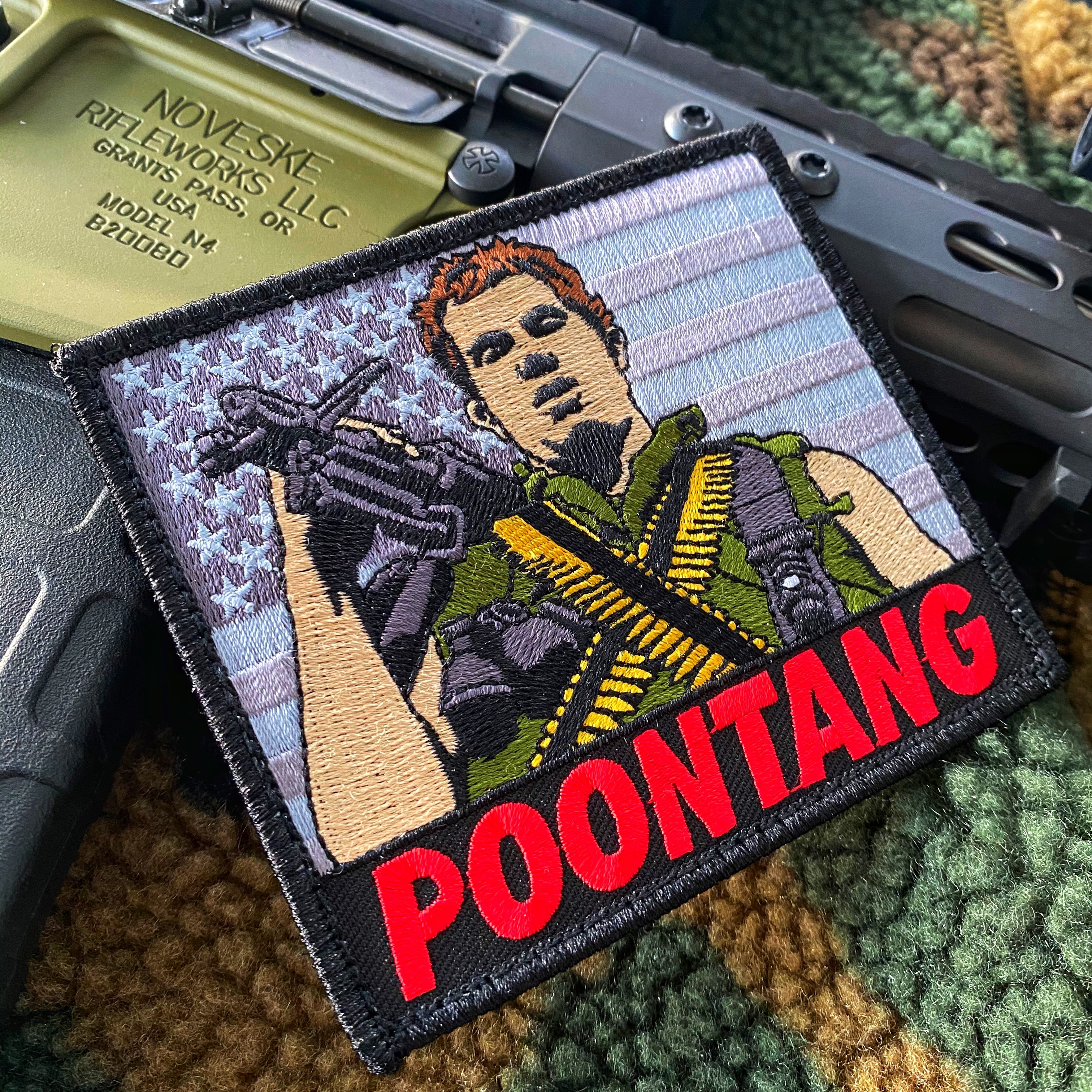 "Dangerous Goods Full Metal Jacket Animal Mother ""Poontang"" Morale Patch - 2 Color Options"