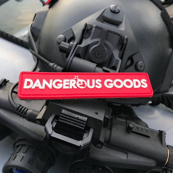 Dangerous Goods Box Logo Glow-In-The-Dark PVC Morale Patch Series - 3 Color Options