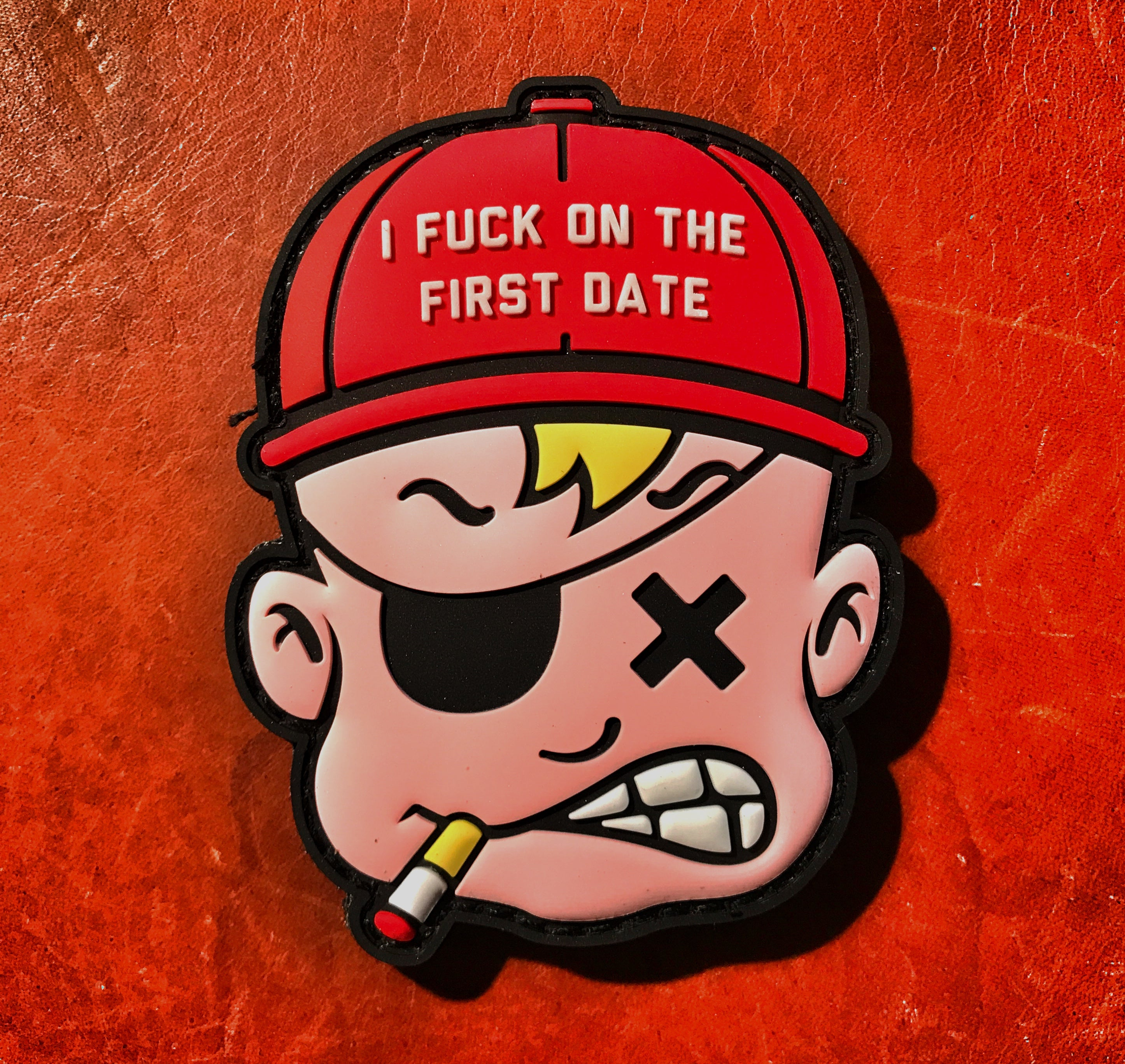 "Dangerous Goods Danger Joe ""I Fuck On The First Date"" PVC Morale Patch"