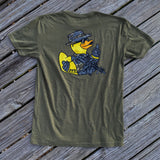 Zero Fucks Duck ZFD Tiger Camo Boonie Duck T-Shirt - OD Green