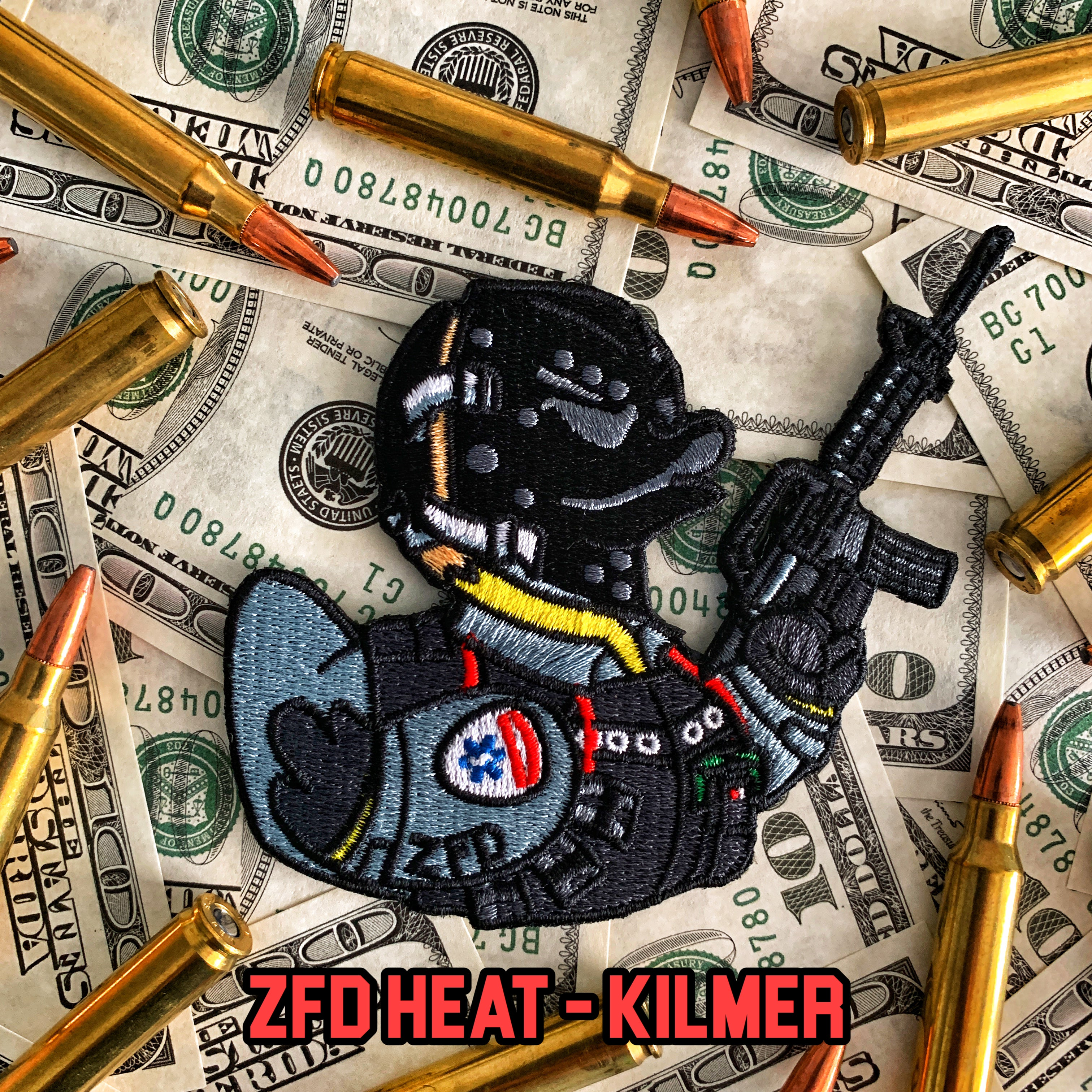 Zero Fucks Duck HEAT Morale Patch Series