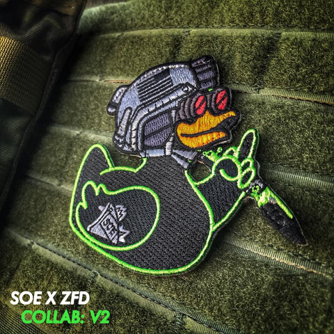 ZERO FUCKS DUCK X SOE V2 PATCH