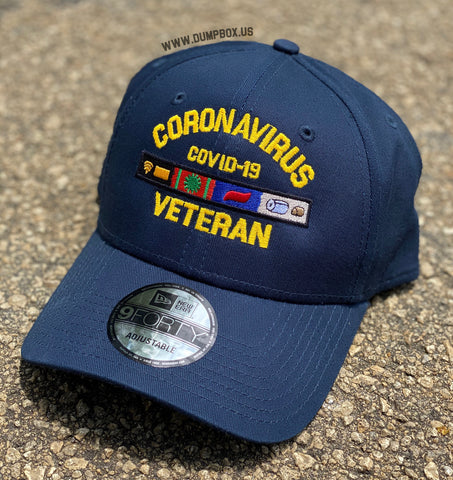 Dangerous Goods™️ Coronavirus Veteran New Era Low Profile Hat - Navy