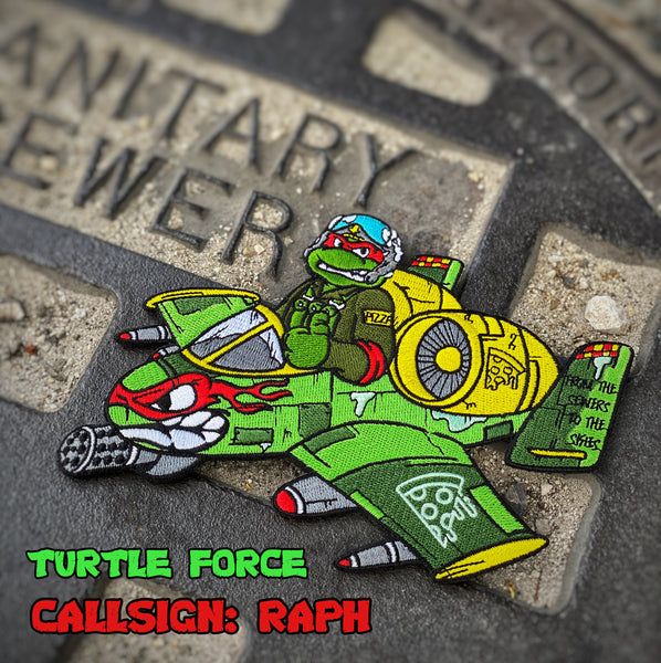 "Dangerous Goods™️ Turtle Force A10 Warthog 6"" Morale Patch"