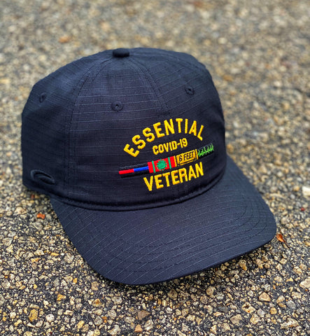 Dangerous Goods™️ Essential Veteran Low Profile Ripstop Hat - Black