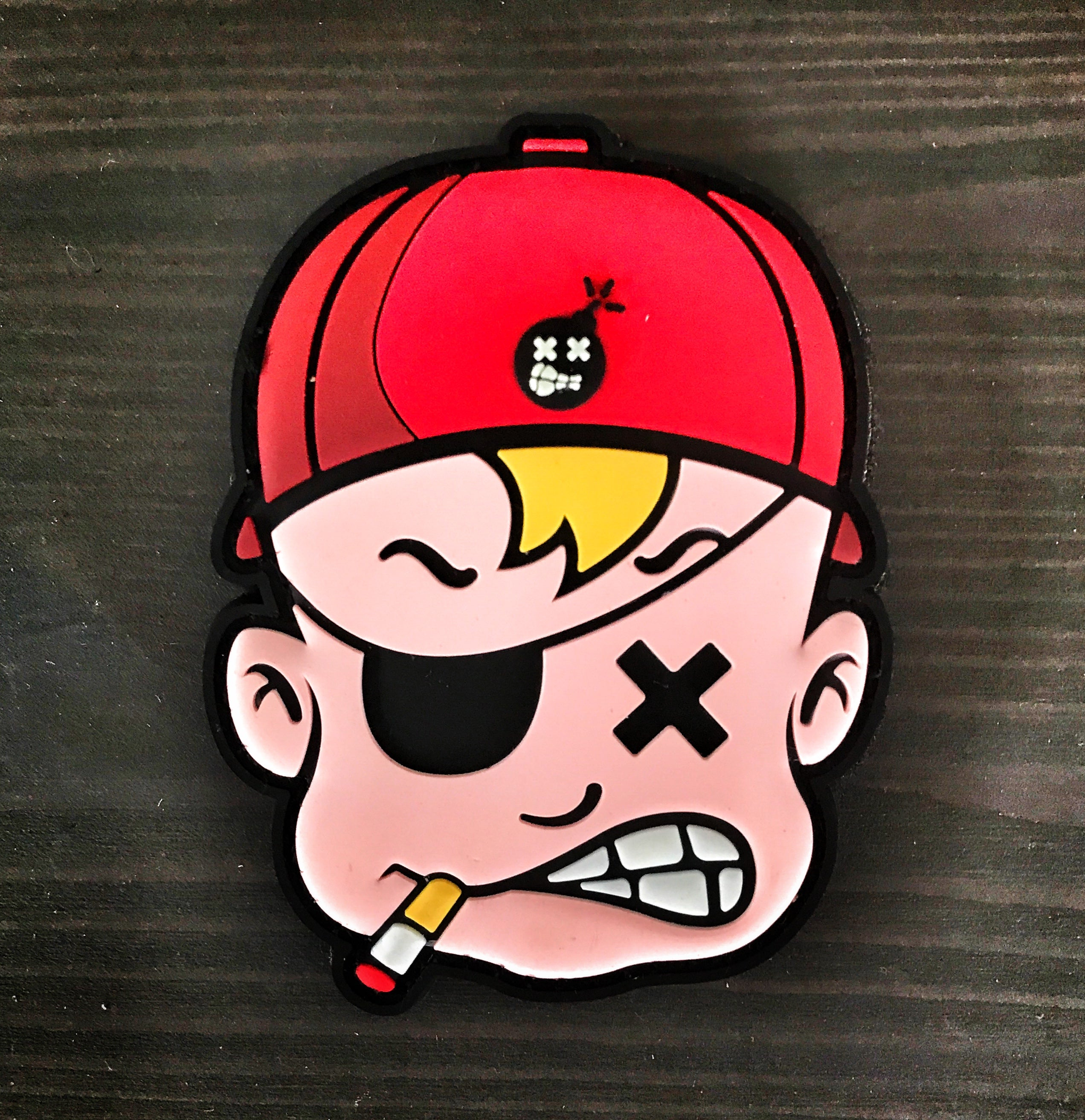Dangerous Goods Danger Joe Mascot PVC Morale Patch