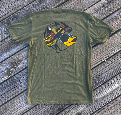 A  DUMP BOX OFFICIAL ZERO FUCKS DUCK ZFD 'FULL METAL QUACKET' T-SHIRT