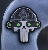 """Lights Out"" Punisher Glow-In-The-Dark Night Vision Operator PVC Morale Patch"
