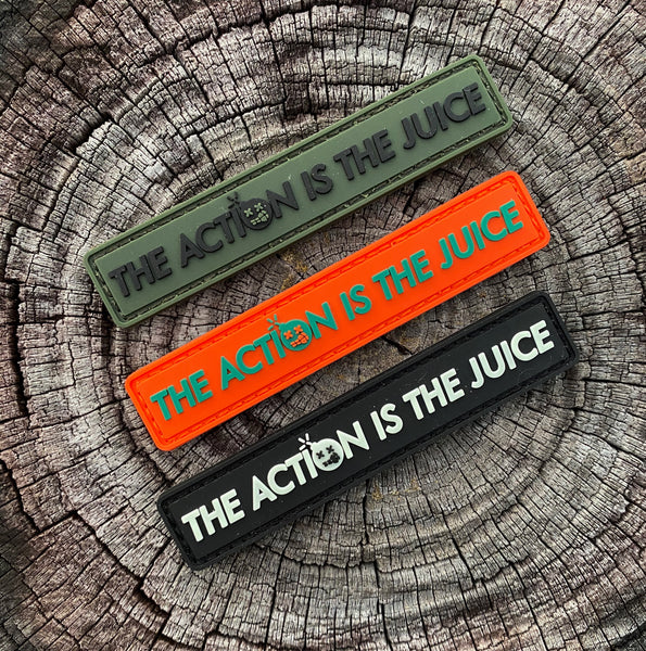 "Dangerous Goods HEAT ""The Action Is The Juice"" PVC Morale Patch - 3 Color Options"