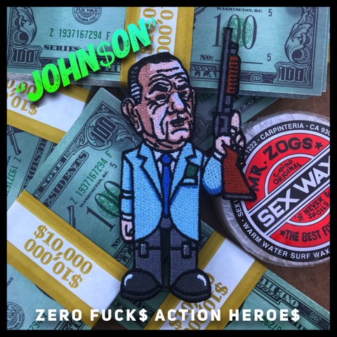 Zero Fucks Action Heroes 'POINT BREAK' Morale Patch Series - Johnson