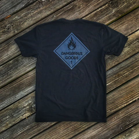 Dangerous Goods™ Placard Classic T-Shirt - Warthog Gray