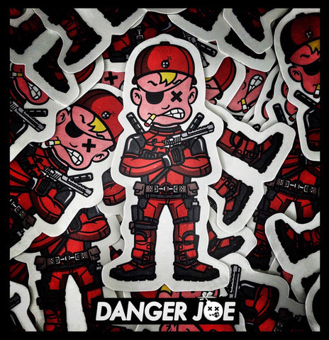 DUMP BOX ORIGINAL 'DANGER JOE' SERIES MORALE STICKER - DANGERPOOL