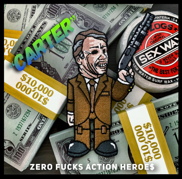 Zero Fucks Action Heroes 'POINT BREAK' Morale Patch Series - Carter