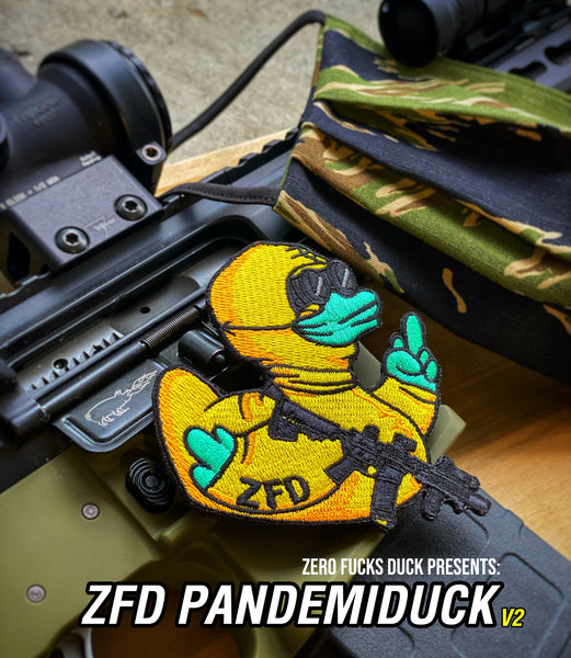 Zero Fucks Duck ZFD Pandemiduck Essential Operator Morale Patch