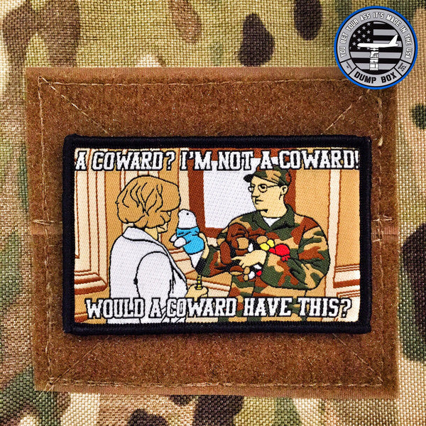 "ARRESTED DEVELOPEMENT ""I'M NOT A COWARD"" ARMY MORALE PATCH"