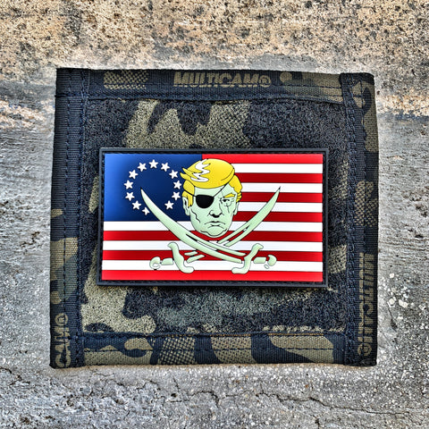 Calico Trump Betsy Ross 3D PVC Flag Morale Patch - Glow In The Dark