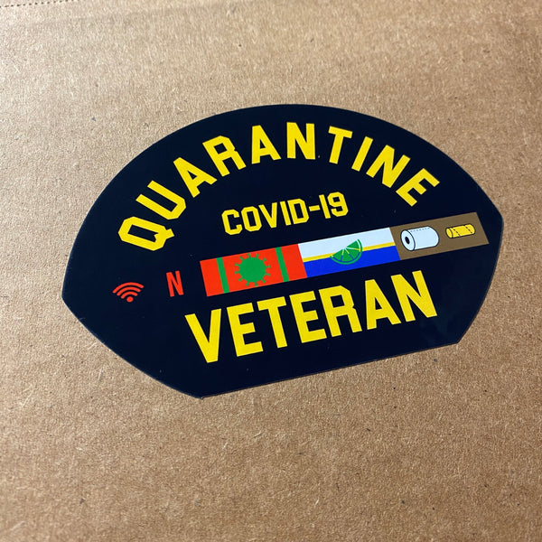 Dangerous Goods™️ Quarantine Veteran Sticker