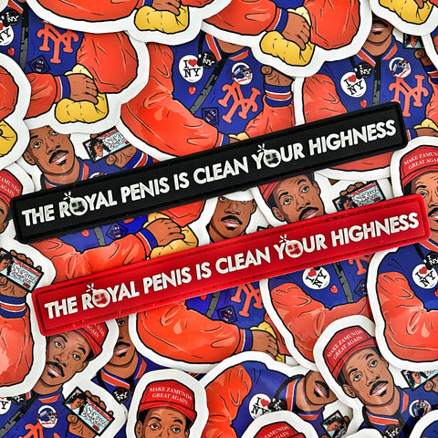 "Dangerous Goods™ ""The Royal Penis Is Clean Your Highness"" PVC Morale Patch - 2 Color Options"
