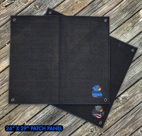 "A Zero Fucks Duck Velcro Morale Patch Panel - 26"" x 29"""