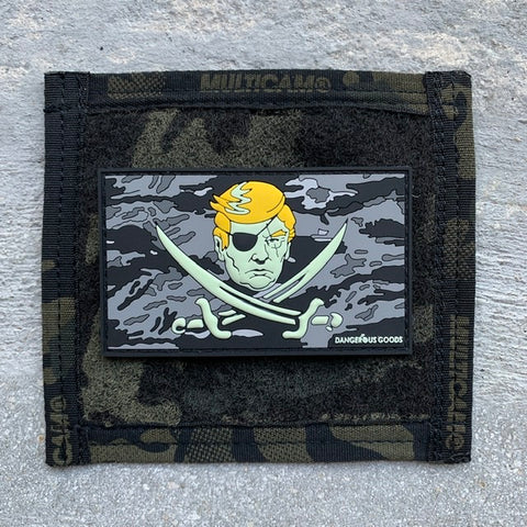 Calico Trump 3D PVC GITD Flag Morale Patch - Night Ops Tiger Camo