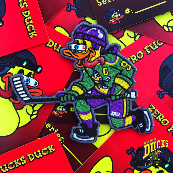 Zero Fucks Duck Mighty Hockey Duck ZFD Morale Patch