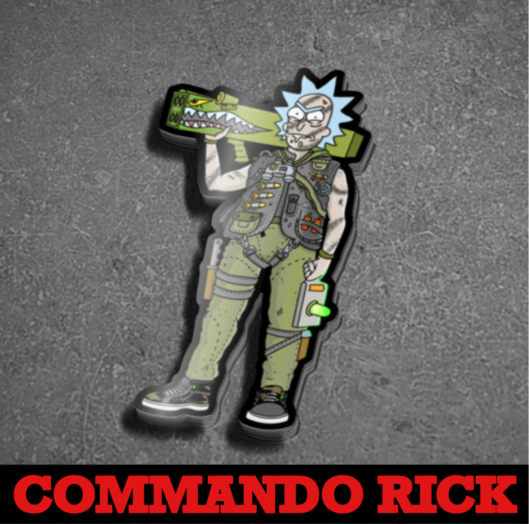 Dangerous Goods Commando Rick Sticker