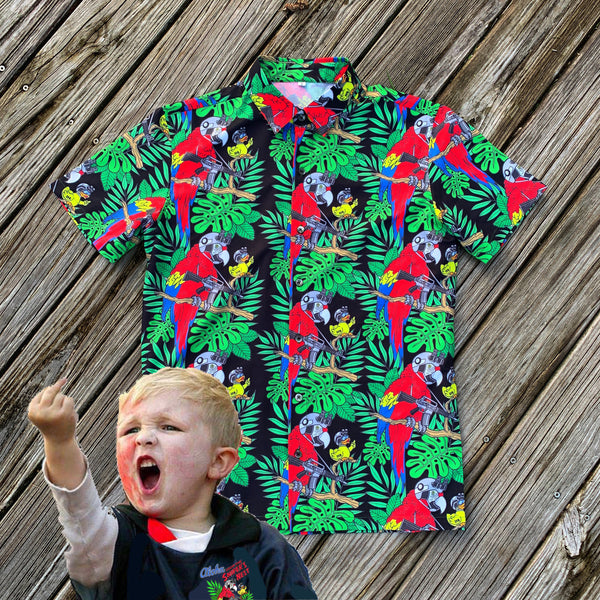 (KIDS SIZES) Zero Fucks Duck X Steve Nazar TODDLER Hawaiian Shirt & Shorts