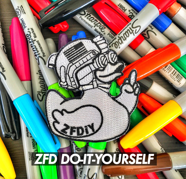 "ZERO FUCKS DUCK ""ZFD"" ZFDiy DO-IT-YOURSELF MORALE PATCH"