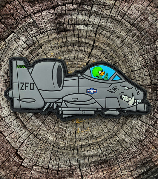 "Zero Fucks Duck ""ZFD"" A10 Warthog PVC Morale Patch"
