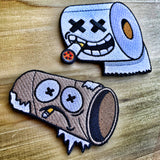 Dangerous Goods Toilet Paper Survivor Embroidered Morale Patch Set
