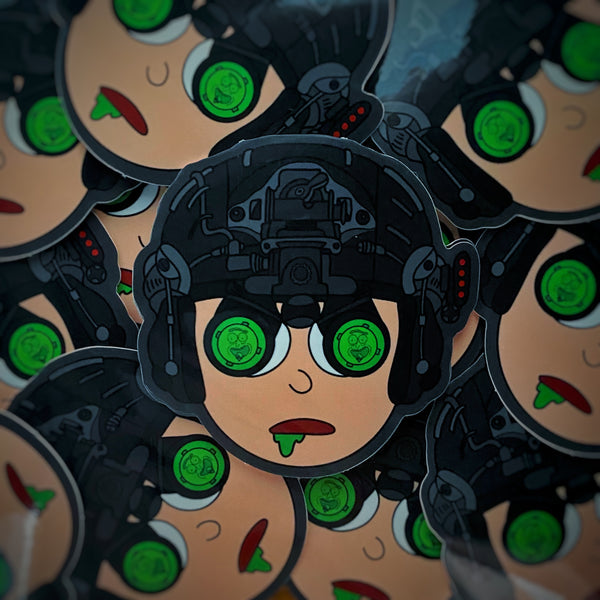 Dangerous Goods™️ Moons Out Mortys Out Night Vision Sticker