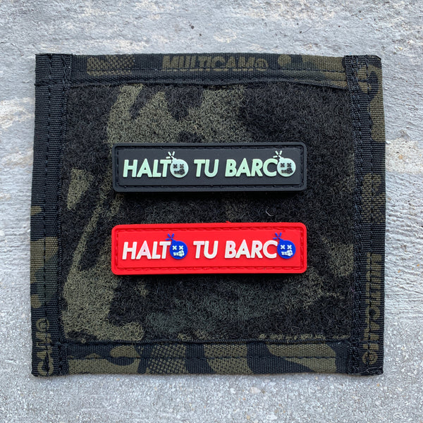 "Dangerous Goods ""HALTO TU BARCO"" Stop Your Boat PVC Morale Patch - Coast Guard & Black Ops"