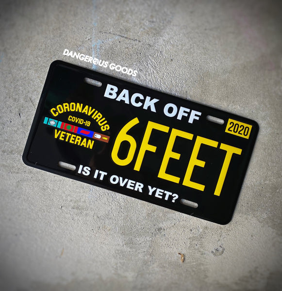 🦠 NEW 🦠 Dangerous Goods™️ Coronavirus Veteran License Plate