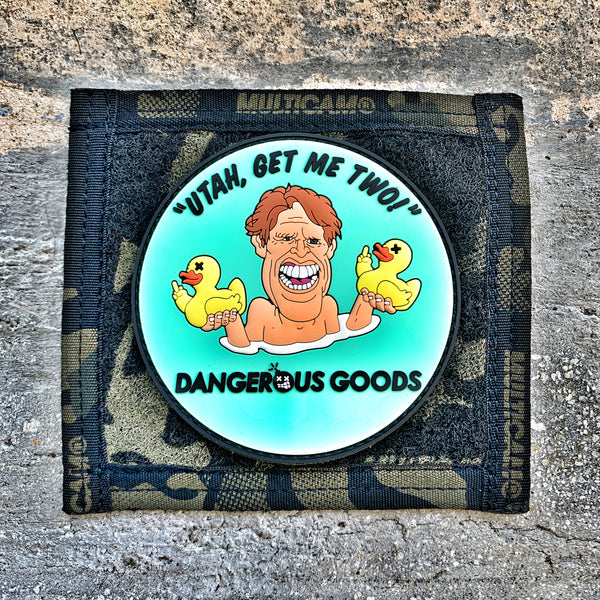 "Dangerous Goods x Zero Fucks Duck ""Utah Get Me Two"" Busey Morale Patch"